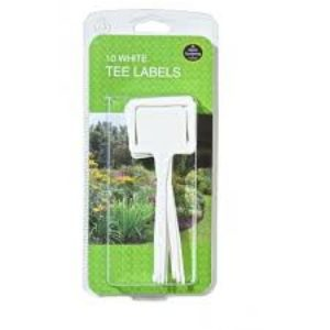 White Tee Labels 10Pcs Garland