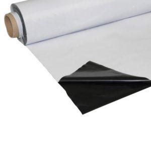 Plastique noir/blanc, 6x1m, 200 Micron