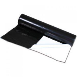 Plastique noir/blanc, 25x2m